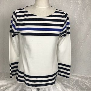 J. Crew black label striped nautical boatneck top